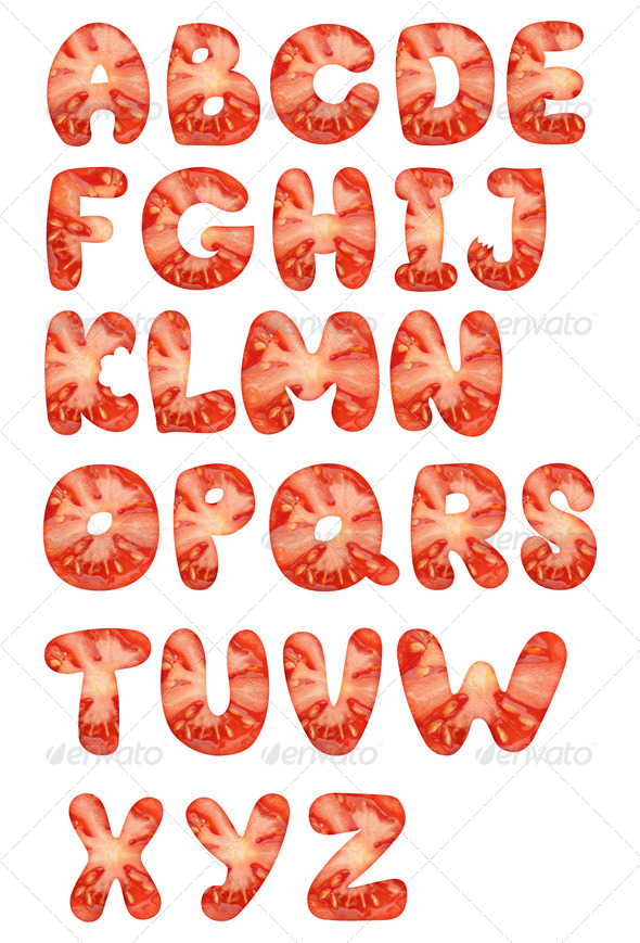 Tomato Alphabet - Stock Photo - Images