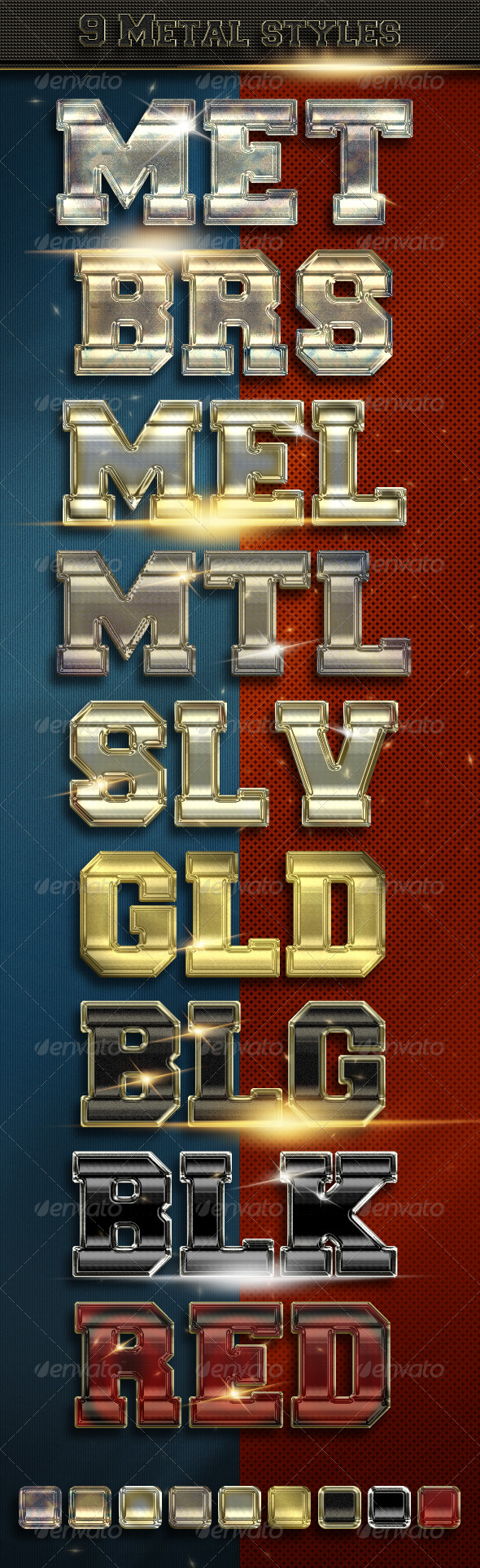 9 Metal Text Styles - Vol. 2 - Add-ons