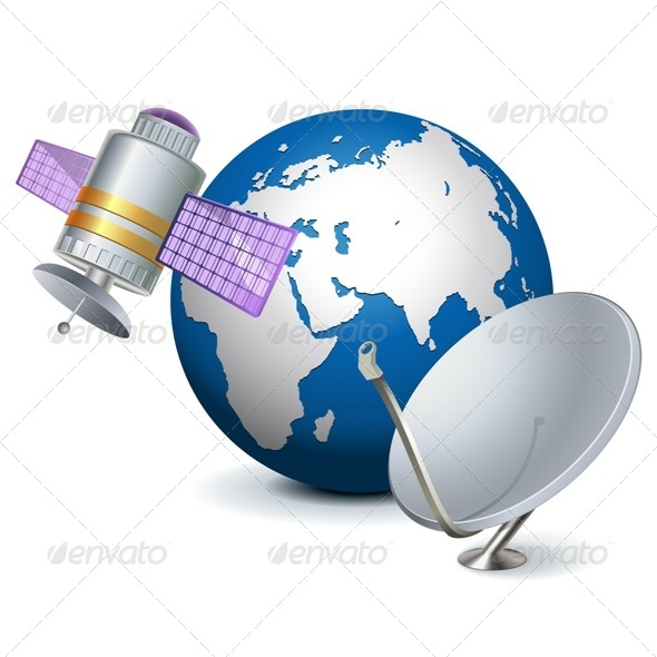 GraphicRiver Vector Satellite Technology Concept 5553180