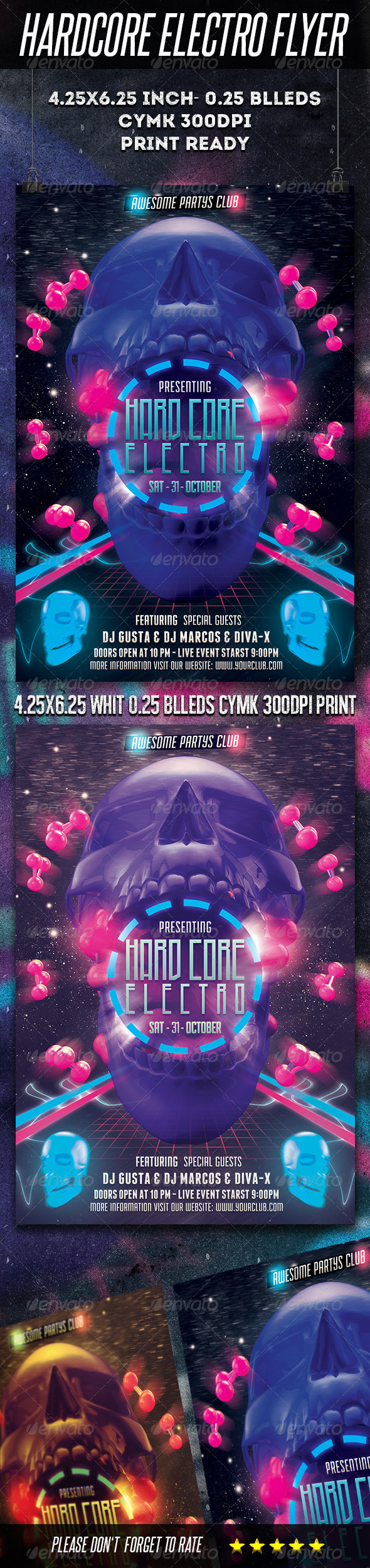 GraphicRiver Hardcore Electro Flyer 5553856