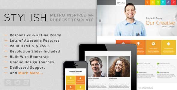 ThemeForest STYLISH Metro Inspired Multi-Purpose Template 5555079