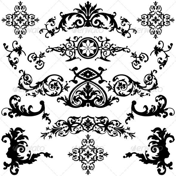 GraphicRiver Vintage Design Elements 5555218