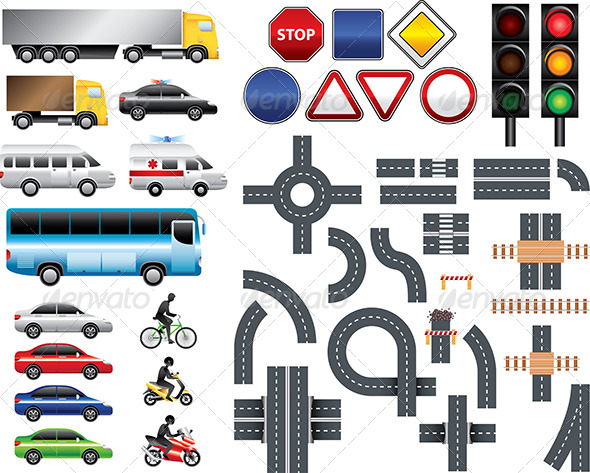 GraphicRiver Road Map Toolkit Big Vector Set 5555287
