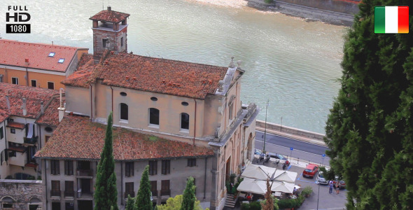 VideoHive Church on the Adige River Verona Italy 5555609