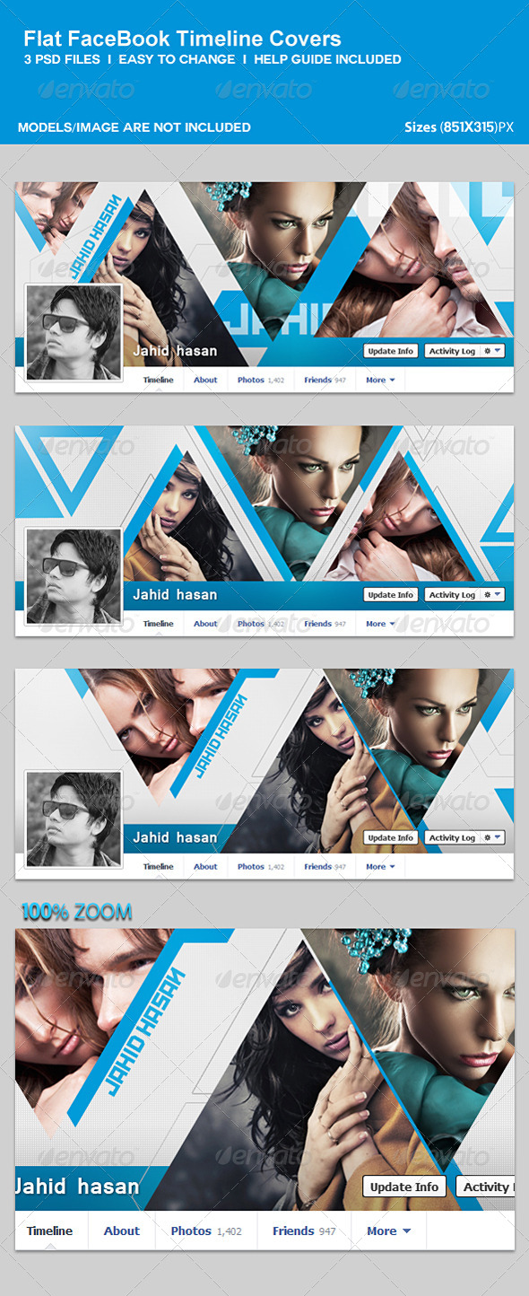 GraphicRiver Flat Facebook Timeline Covers 5523804