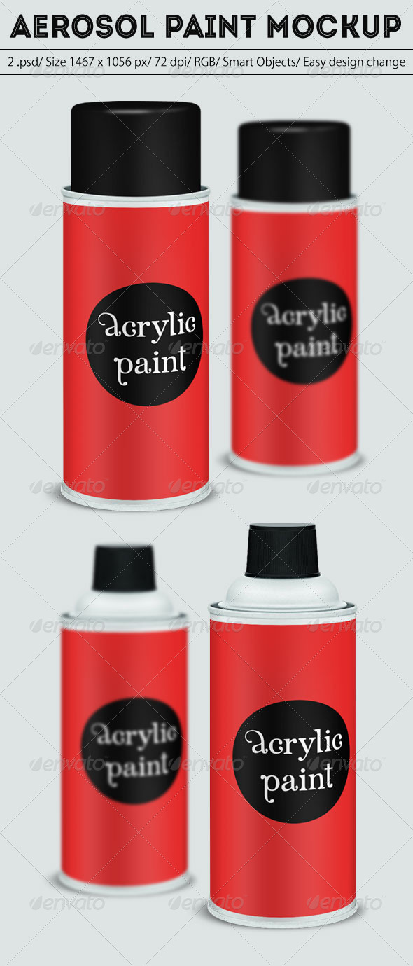 Aerosol Paint Mockup - Miscellaneous Packaging