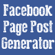 Facebook Page Post Generator - CodeCanyon Item for Sale