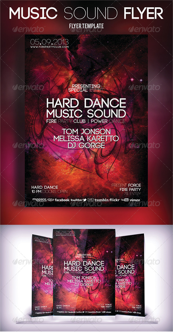 GraphicRiver Music Sound Flyer 5533562