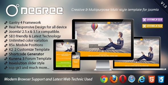 Degree Creative and Responsive Joomla Template - Creative Joomla