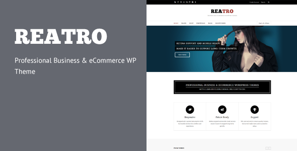 ThemeForest Reatro Professional Business & eCommerce WP Theme 5493772