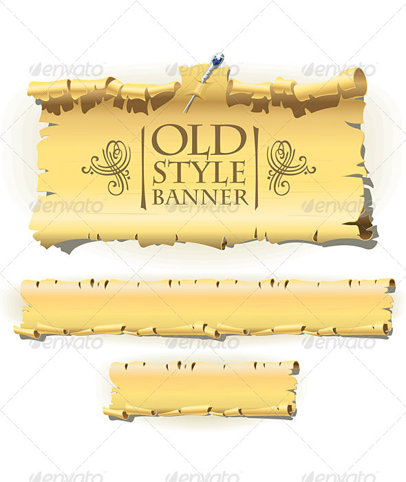 GraphicRiver Old Paper Banner 5527965