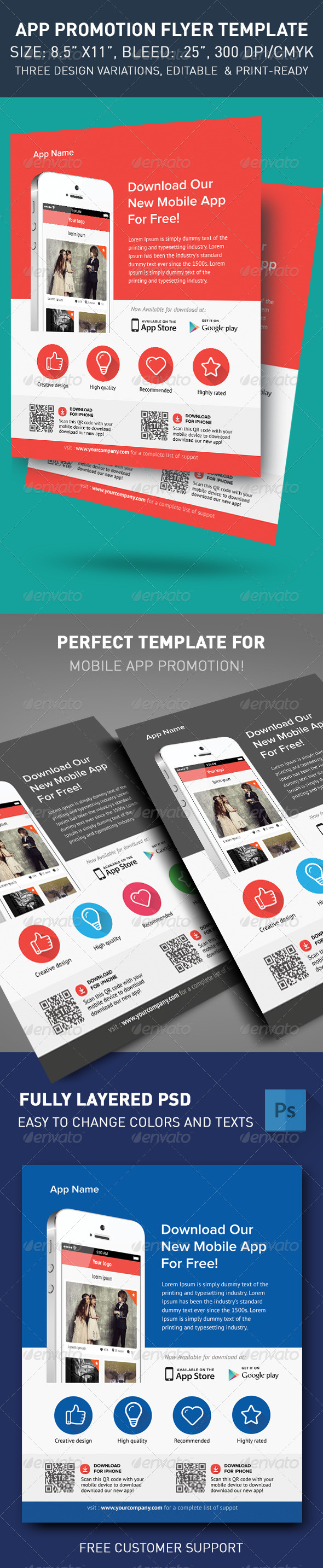 GraphicRiver Modern App Flyers 5540840