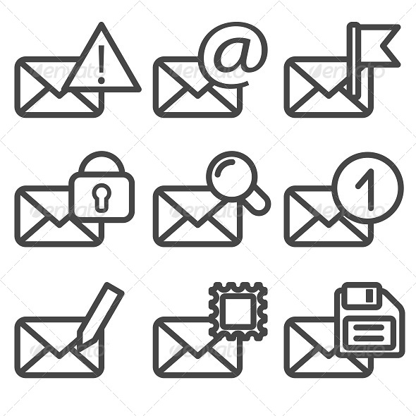 GraphicRiver Envelopes Icons Vol2 5540230