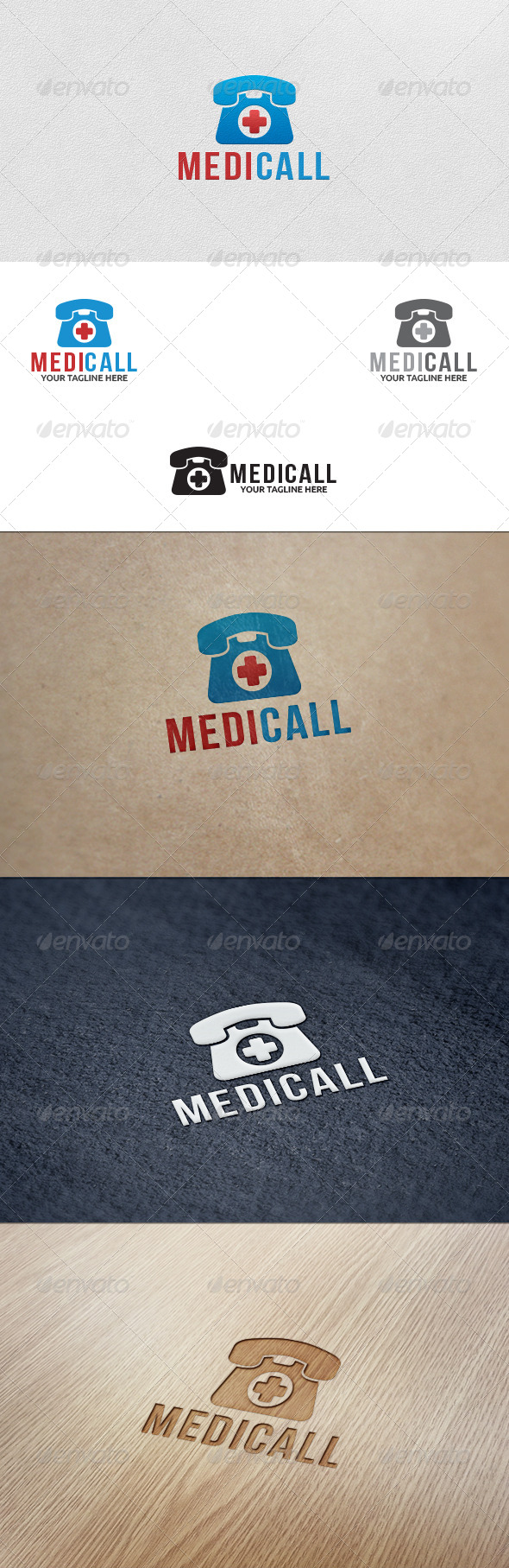GraphicRiver Medical Call Logo Template 5558516