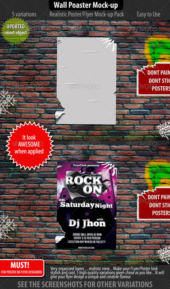 Wall Poster/Flyer Mock-up - Flyers Print