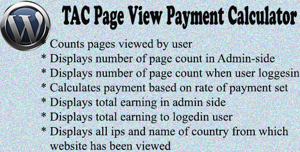 CodeCanyon TAC Page View Payment Calculator 5559495