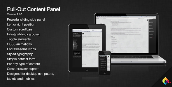 Pull-Out Content Panel - CodeCanyon Item for Sale