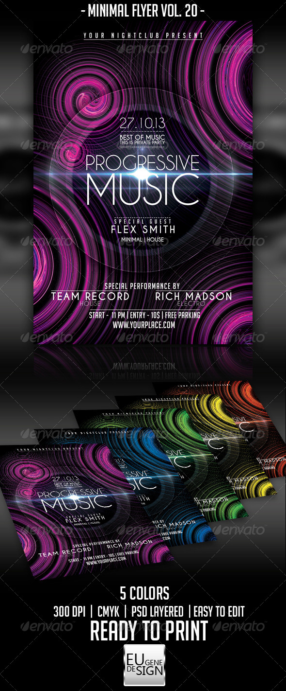 GraphicRiver Minimal Flyer Vol 20 5559767