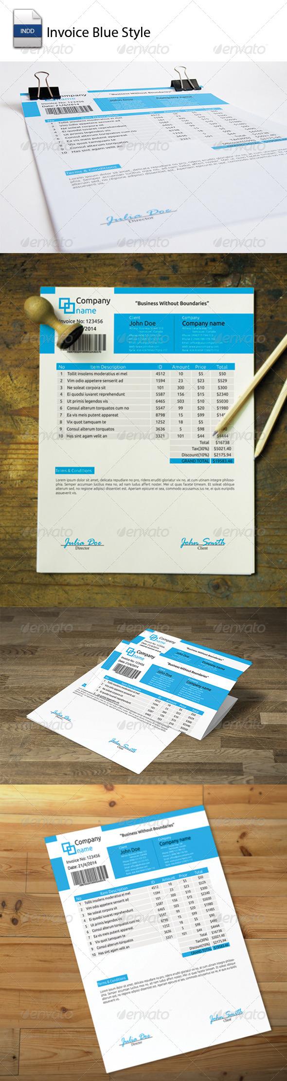 GraphicRiver Invoice Blue Style 5532828