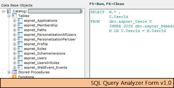 CodeCanyon SQL Query Analyzer Form 5540023