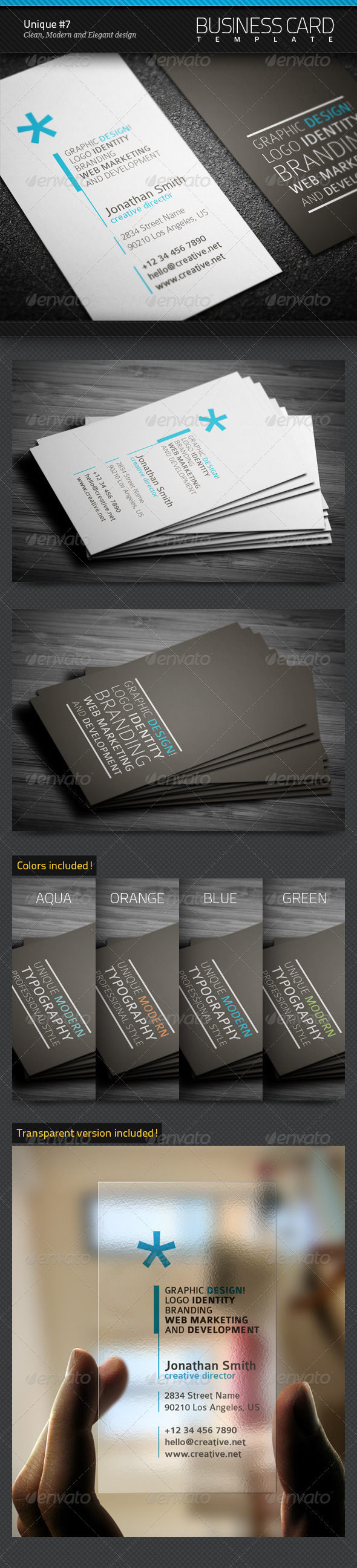 GraphicRiver Unique Business Card #7 5560559