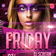 FRIDAY Party Flyer Template - GraphicRiver Item for Sale