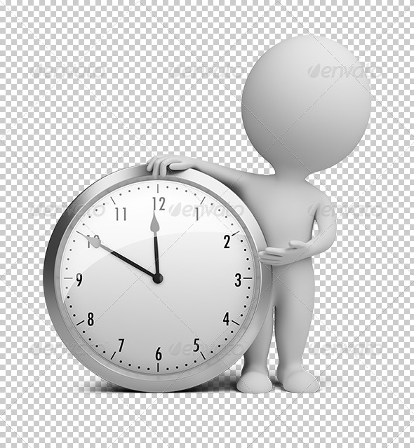GraphicRiver 3D small people clock 5560691