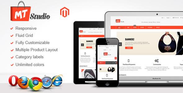 MT Studio : Fluid Responsive Magento Theme - Magento eCommerce