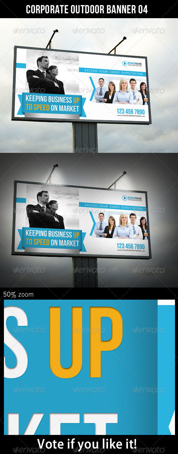 Corporate Outdoor Banner 04 - Signage Print Templates