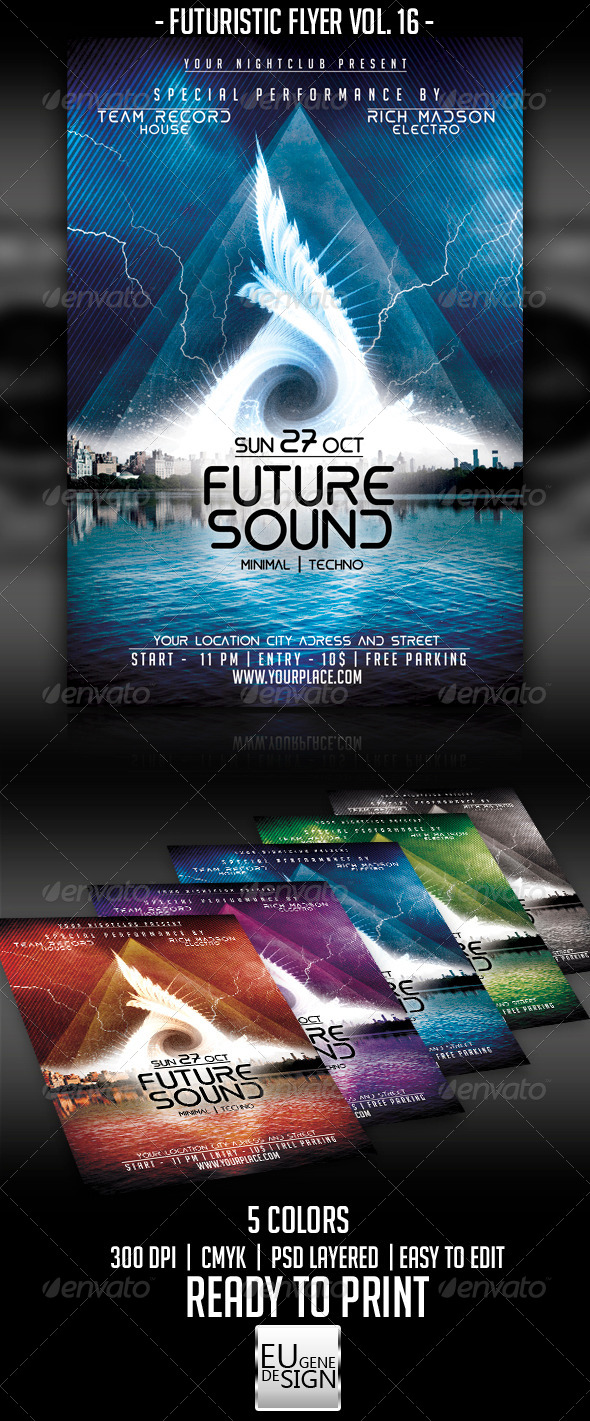 Futuristic Flyer Vol. 16 - Clubs & Parties Events