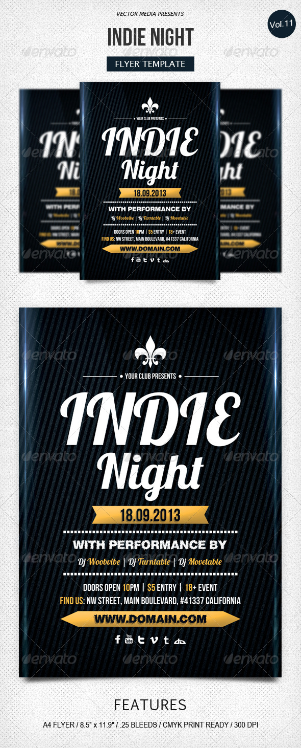GraphicRiver Indie Night Flyer [Vol.11] 5561980