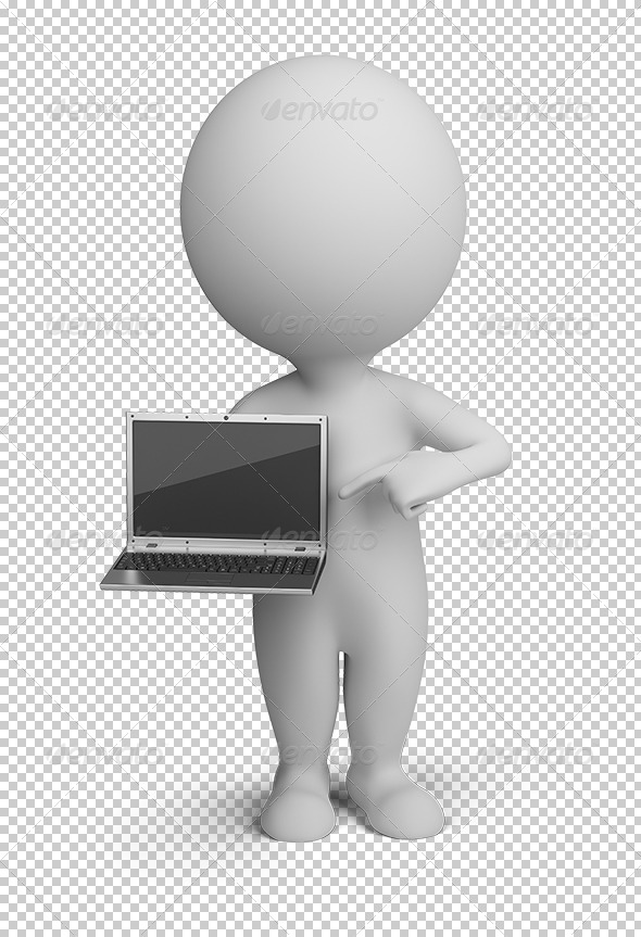 GraphicRiver 3D small people laptop 5561985
