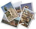 Collage of photos of Milan Italy isolated on the white background - PhotoDune Item for Sale