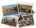 Collage of photos of Florence Tuscany Italy isolated on the white background - PhotoDune Item for Sale