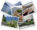 Collage of Lake Garda photographs with landmarks isolated on white background - PhotoDune Item for Sale