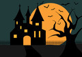 Illustration Of A Halloween Castle - PhotoDune Item for Sale