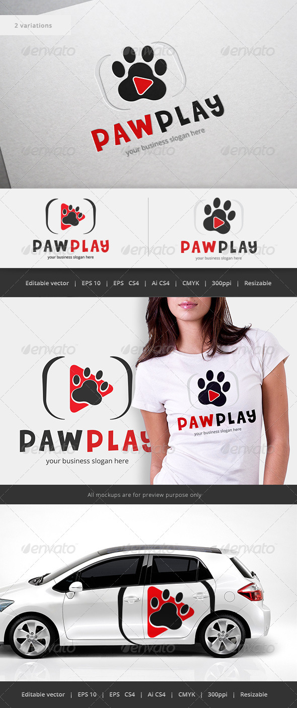 GraphicRiver Paw Play Logo 5562378