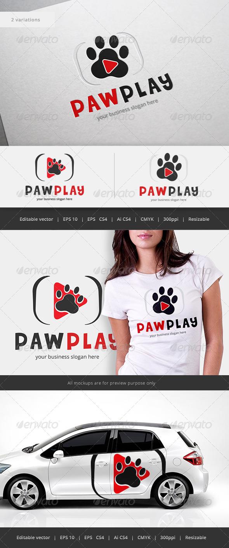 GraphicRiver Paw Play Logo 5562378
