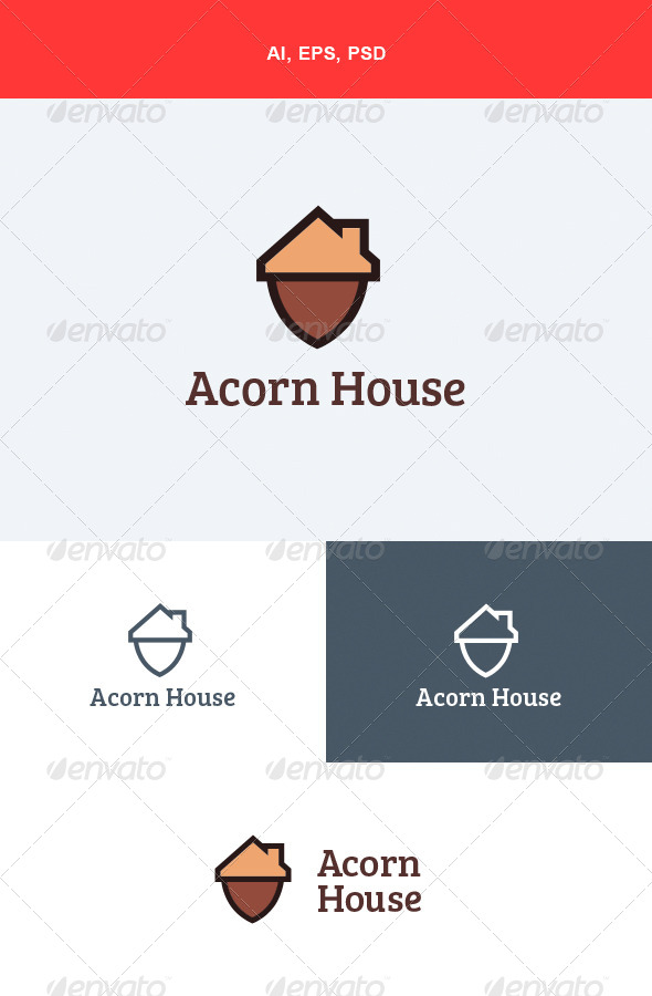 GraphicRiver Acorn House Logo 5556573