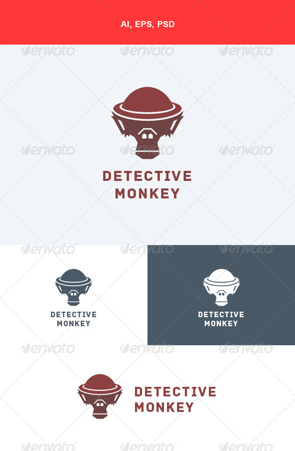 GraphicRiver Detective Monkey Logo 5555968