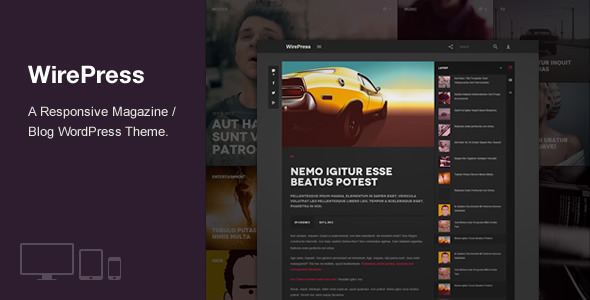 ThemeForest WirePress Magazine & Blog WordPress Theme 5562500