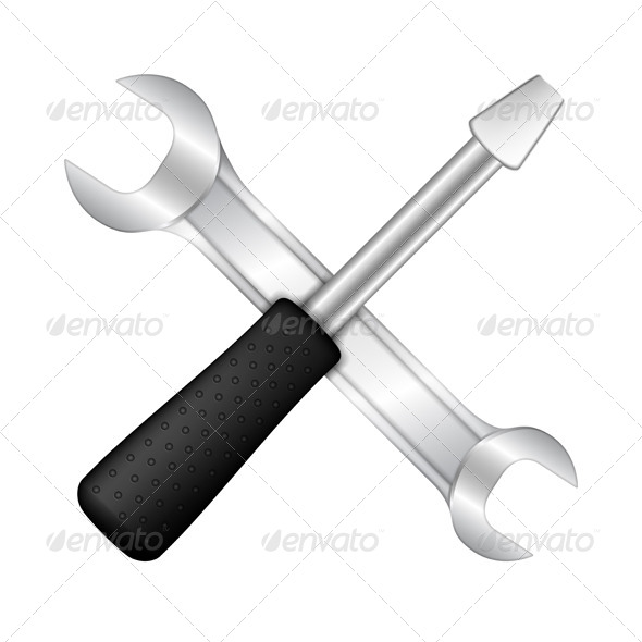 GraphicRiver Screwdriver and Wrench 5562882