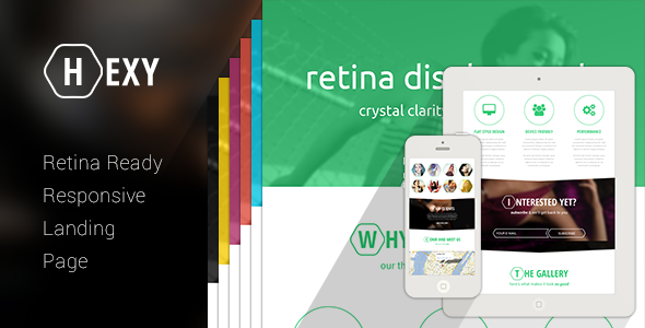 ThemeForest HEXY Landing Page Theme 5556452