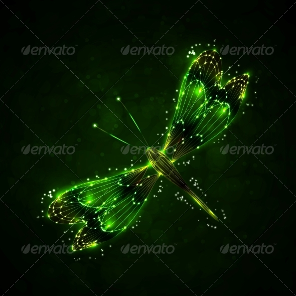 GraphicRiver Shiny Abstract Dragonfly 5563261