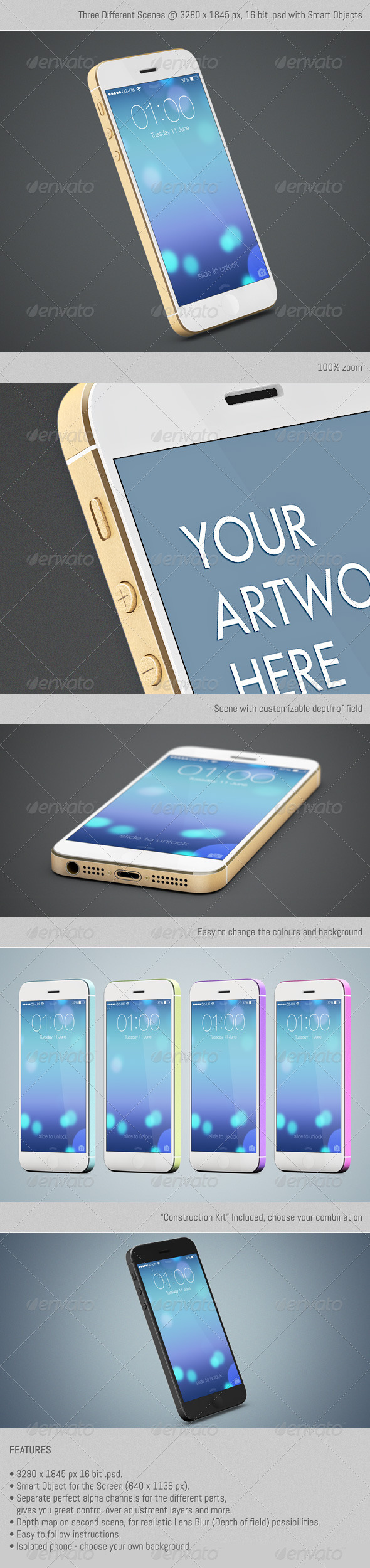 GraphicRiver The Golden SmartPhone 5563377