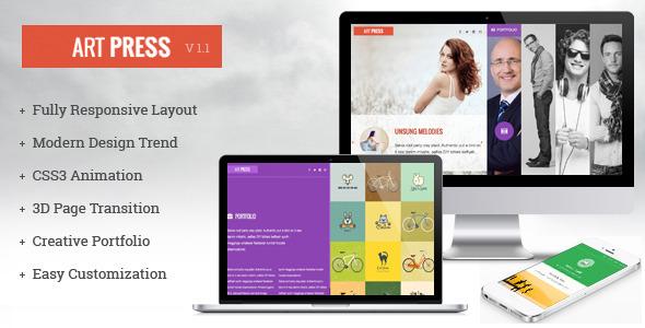 ThemeForest ArtPress One Page Responsive Creative Portfolio 5548939