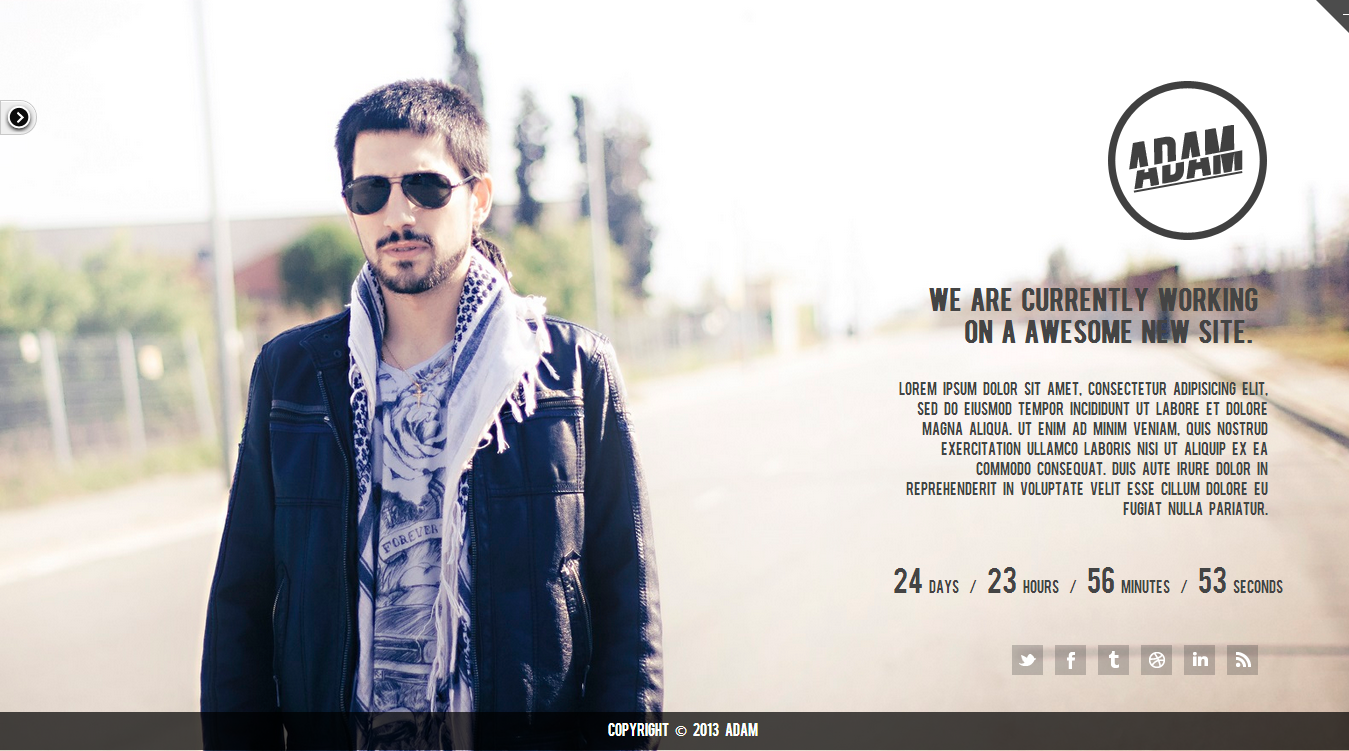 Adam - Responsive Under Construction Theme