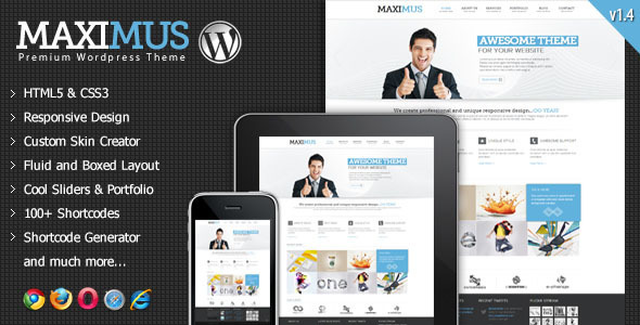 Maximus - Responsive Multi-Purpose Wordpress Theme - Corporate WordPress