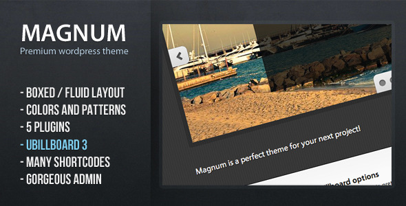 Magnum - premium wordpress theme