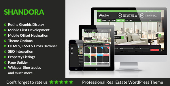 ThemeForest Shandora Real Estate WordPress Theme 5565383
